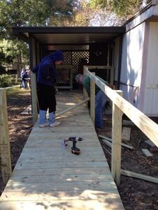 Mrs Helen's handicap ramp in progress